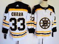 Mens Nhl Boston Bruins #33 Zdeno Chara White Away Adidas Jersey