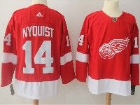 Mens Nhl Detroit Red Wings #14 Gustav Nyquist  Adidas Red Jersey
