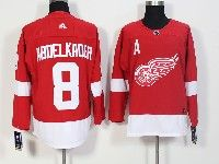 Mens Nhl Detroit Red Wings #8 Justin Abdelkader (a) Adidas Red Jersey