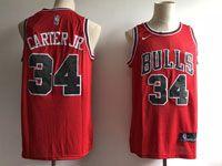 Mens Nba Chicago Bulls #34 Carter Jr Bulls Red Nike Icon Edition Jersey