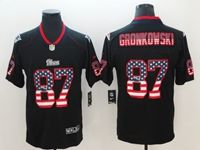 Mens New England Patriots #87 Rob Gronkowski 2018 Usa Flag Fashion Black Vapor Untouchable Limited Jersey