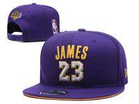 Mens Los Angeles Lakers Purple #23 Lebron James Adjustable Snapback Hats