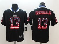 Mens New York Giants #13 Odell Beckham Jr 2018 Usa Flag Fashion Black Vapor Untouchable Limited Jersey