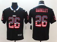 Mens New York Giants #26 Saquon Barkley 2018 Usa Flag Fashion Black Vapor Untouchable Limited Jersey