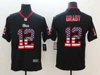 Mens New England Patriots #12 Tom Brady 2018 Usa Flag Fashion Black Vapor Untouchable Limited Jersey