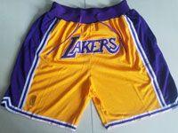 Mens Season Nba Los Angeles Lakers Gold Nike Hardwood Classics Pocket Shorts