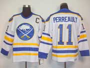 Mens nhl buffalo sabres #11 perreault white 3rd throwbacks Jersey