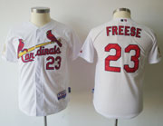 Mens mlb st.louis cardinals #23 freese white&red number Jersey