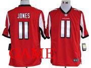 Mens Nfl Atlanta Falcons #11 Jones Red Game Jersey