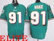 Mens Nfl Miami Dolphins #91 Wake Green Elite Jersey