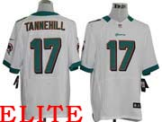Mens Nfl Miami Dolphins #17 Tannehill White Elite Jersey