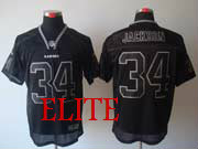 Mens Nfl Las Vegas Raiders #34 Bo Jackson Black (light Out) Elite Jersey