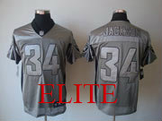 Mens Nfl Las Vegas Raiders #34 Bo Jackson Gray Shadow Elite Jersey