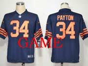 mens nfl Chicago Bears #34 Walter Payton blue (orange number) game jersey