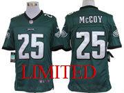 Mens Nfl Philadelphia Eagles #25 Mccoy Dark Green Limited Jersey