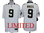 mens nfl New Orleans Saints #9 Drew Brees white limited jersey