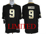 mens nfl New Orleans Saints #9 Drew Brees black limited jersey