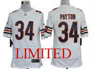 mens nfl Chicago Bears #34 Walter Payton white limited jersey