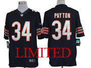 mens nfl Chicago Bears #34 Walter Payton blue limited jersey