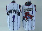 Mens Nba Toronto Raptors #1 Mcgrady White Swingman Jersey