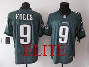 Mens Nfl Philadelphia Eagles #9 Foles Green Elite Jersey