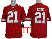 Mens Nfl San Francisco 49ers #21 Gore Red Limited Jersey