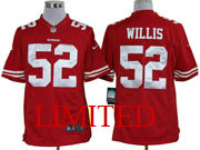 Mens Nfl San Francisco 49ers #52 Willis Red Limited Jersey