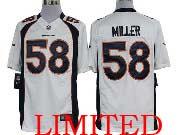 mens nfl Denver Broncos #58 Von Miller limited jersey