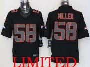 mens nfl Denver Broncos #58 Von Miller black impact limited jersey