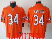 mens nfl Chicago Bears #34 Walter Payton orange limited jersey