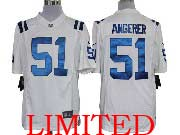 Mens Nfl Indianapolis Colts #51 Angerer White Limited Jersey