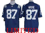 Mens Nfl Indianapolis Colts #87 Wayne Blue Limited Jersey