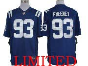 Mens Nfl Indianapolis Colts #93 Freeney Blue Limited Jersey