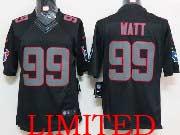mens nfl Houston Texans #99 JJ Watt black impact limited jersey