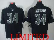 Mens Nfl Oakland Raiders #34 Bo Jackson Black Impact Limited Jersey