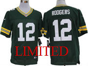 mens nfl Green Bay Packers #12 Aaron Rodgers green limited jersey
