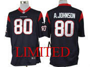 Mens Nfl Houston Texans #80 A.johnson Blue Limited Jersey