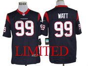 mens nfl Houston Texans #99 JJ Watt blue limited jersey