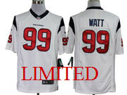 mens nfl Houston Texans #99 JJ Watt white limited jersey