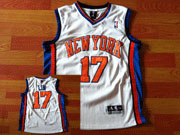 Mens Nba New York Knicks #17 Jeremy Lin White Jersey(mesh)