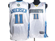 Mens Nba Denver Nuggets #11 Andersen White Jersey (p)