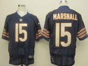 Mens Nfl Chicago Bears #15 Marshall Blue Elite Jersey