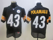 Mens Nfl Pittsburgh Steelers #43 Troy Polamalu Black Elite Jersey