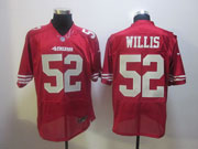 Mens Nfl San Francisco 49ers #52 Willis Red Elite Jersey