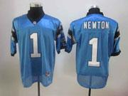 mens nfl Carolina Panthers #1 Cam Newton light blue elite jersey