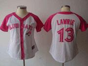 Women Mlb Toronto Blue Jays #13 Lawrie Pink Splash Fashion Jersey