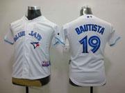 youth mlb Toronto Blue Jays #19 Jose Bautista white 2012 new style jersey