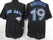 mens mlb Toronto Blue Jays #19 Jose Bautista black 2012 new style jersey
