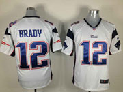 mens nfl New England Patriots #12 Tom Brady white game jersey