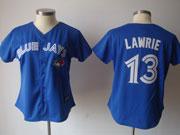 Women Mlb Toronto Blue Jays #13 Lawrie Blue (2012) Jersey